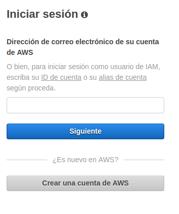 Crear cuenta en AWS, paso 8