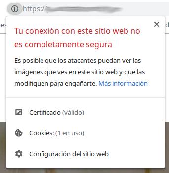 error tu conexion con este sitio web no es completamente segura