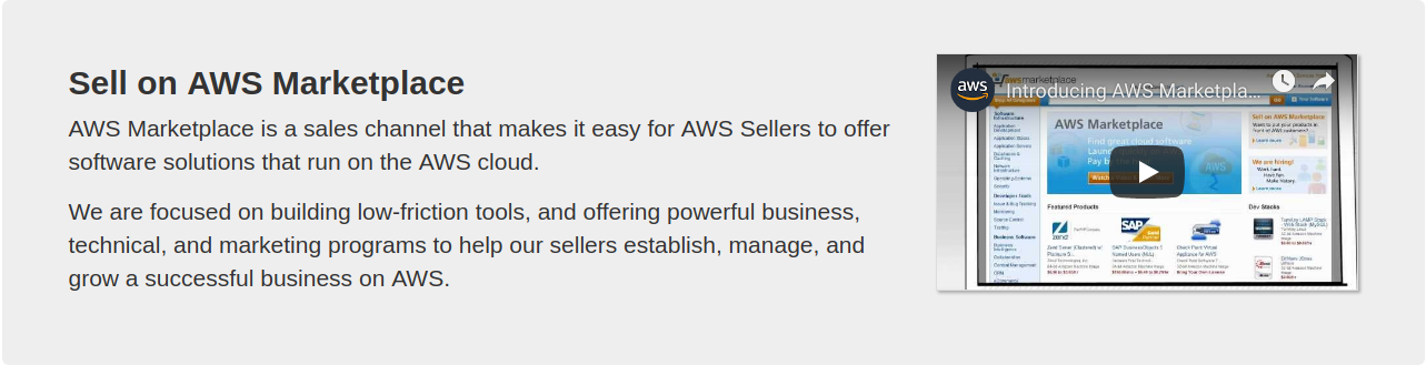 Register on AWS Marketplace